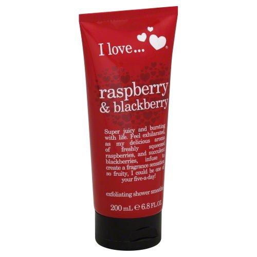 Love Raspberry (I love Exfoliating Shower Smoothie, Raspberry & Blackberry 6.8 fl oz (200 ml))