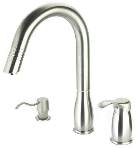 Pegasus Uspw492hd Gooseneck Pull Out Spray Kitchen Faucet Brushed Nickel