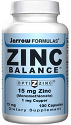 Jarrow Formulas Zinc Balance 15mg, 100 Capsules (Pack of 3)