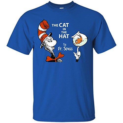 Read across America day - Dr. Seuss The Cat in the Hat T-Shirt (Cat In The Hat T Shirts Adults)
