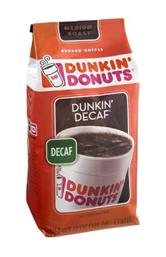 Dunkin' Donuts Dunkin' Decaf Decaffeinated Medium Roast Ground Coffee 12 OZ (Pack of 12) by Dunkin' Donuts