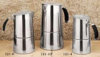 ILSA 121-6 Teacups, Stainless Steel