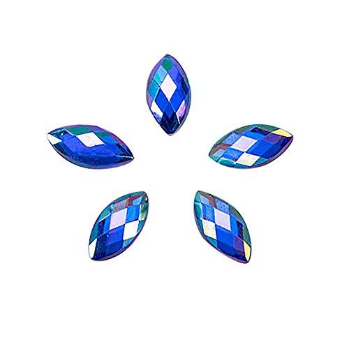 Nail Art Accessories, Babyee 500Pcs Glitter Horse Eye Rhinestones 3D Nail Art Decorative Glue -