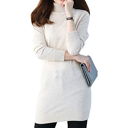 Larga Cachemira Sin Cuello nbsp;mujer Jersey Roll Blanco Manga Dissa F4627 0EqCAx