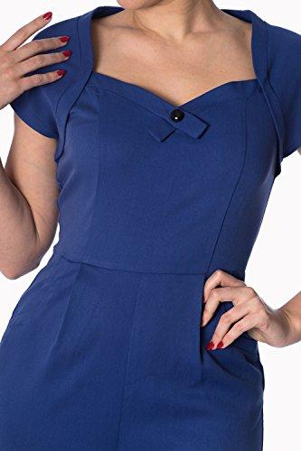 Anni Reale Blu O Playsuit Giocoso '50 Stile Scuro Blu Nero Vintage Retrò gPqPUE