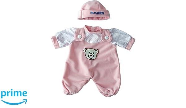 Amazon.es: Miniland - Pelele con Gorro para muñeca, 21 cm, Color Rosa (31698): Juguetes y juegos