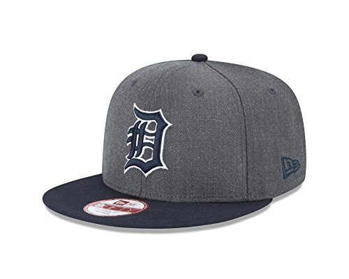 New Era MLB Detroit Tigers Heather 9Fifty Snapback Cap, One Size, Graphite