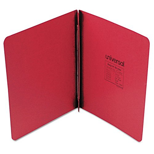 Pressboard Report Cover, Prong Clip, Letter, 3 Capacity, Executive Red by Universal