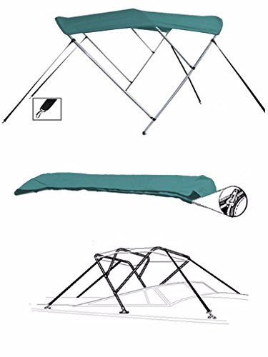 7oz TEAL 3 BOW ROUND TUBE BOAT BIMINI TOP SUNSHADE TOP FOR SEA RAY 240 SUNDECK O/B W/ SKI TOW (Sea Ray Ski)