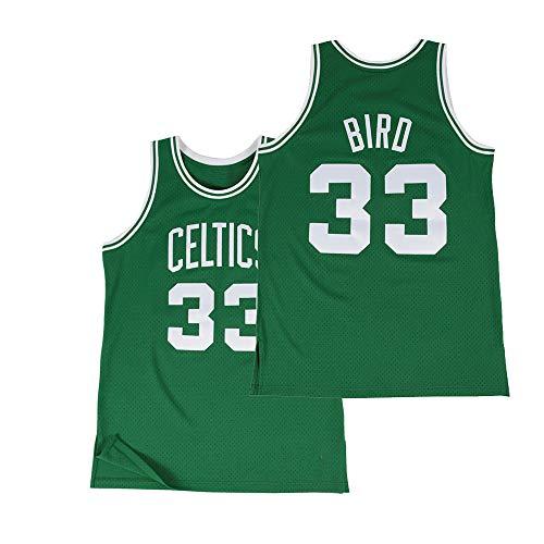 Men's Bird Jersey 33 Larry Adult Athletics Retro Boston Basketball Sizes Green (Medium)