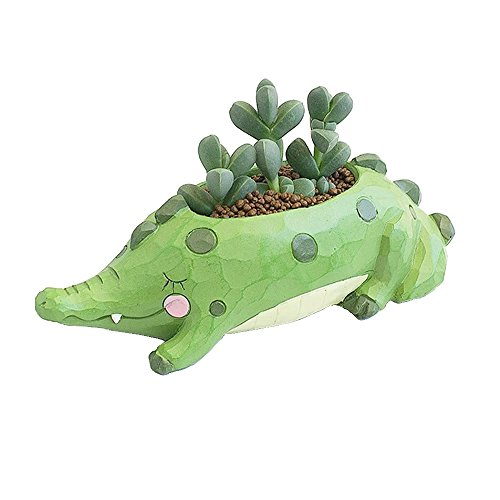 Creative Plants Pot Ceramics Flower Pot Planter Garden Bonsai Succulent Plants Desk Flower Pot, Cactus Plant Pot Flower Pot/Container (Light green) Review