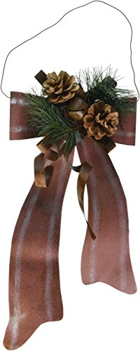 Craft Outlet 16-Inch Tin Holiday Bow Tie Wall Decor, Large