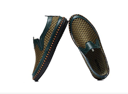 On Walking Casual for Water Loafers Men's Slip Shoes Shoes Mesh Green qT8TIASwX