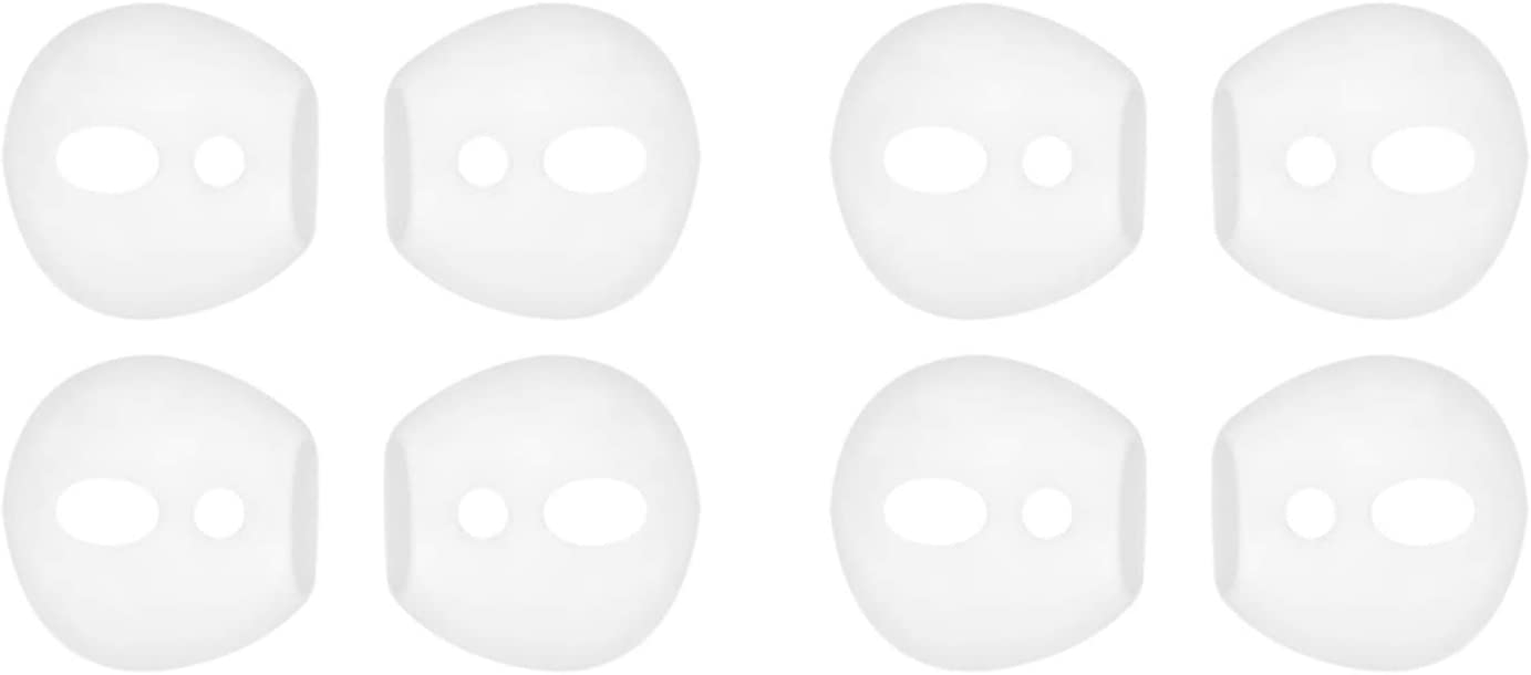 IiEXCEL Fit in Case Eartips for AirPods, 4 Pairs Replacement Super Thin Slim Silicone Earbuds Ear Tips Covers Skin Accessories for Apple AirPods 1 AirPods 2 (Fit in Charging Case) White