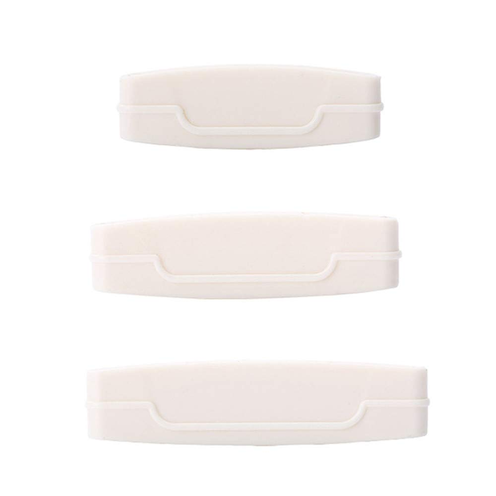 Saying 3-Pack Manual Squeezing Toothpaste Toothpaste Extruder Cosmetic Cosmetic Clean, Toothpaste Tube Squeezer Paint Tube Wringer for Artist, Hair Salon, Painter (White)