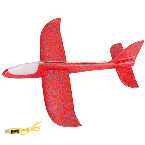 iZHH Children Toys Foam Throwing Glider Airplane LED Night Flying Aircraft Toy Airplane Model Gift ()