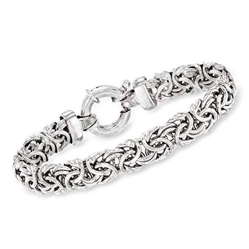 Ross-Simons Italian Sterling Silver Medium Byzantine Bracelet