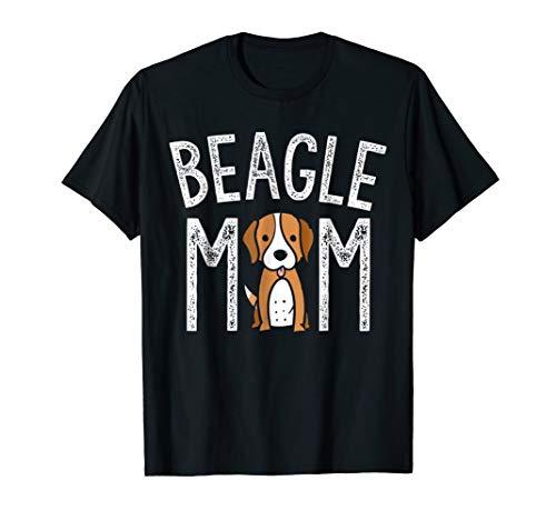 Beagle Mom Shirt Beagle Lover Gifts Funny Dog Mom Pet Tee]()