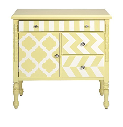 IMAX 74290 Hardy Graphic Print Chest, Yellow from Imax