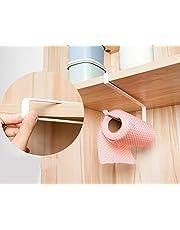 Kitchen Cabinet Cupboard Under Shelf Storage Paper Towel Roll Holder Dispenser Napkins Storage Rack
