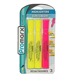 3ct Highlighters 2 Colors, Case of 48
