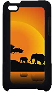 funda rigida case Cover for Ipod Touch 4 4G Hakuna Matata wild African ELEPHANT