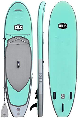 ISLE Airtech All Around | 106 Inflatable Stand Up Paddle Board | (6 Thick) iSUP & Accessory Package | Includes Adjustable Travel Paddle, Carrying Bag, Pump