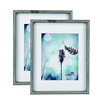 Scholar tree Wooden Photo Picture Frame 5x7 3P 11x14 2P (Style 2, 11x14 inches 2P) - Photo Frame Combination: The photo frame is set up with 2 size combinations: 5 x 7 inches and 3 packs; 11 x 14 inches and 2 packs. High-quality materials: The frames are made of durable and high-quality synthetic wood for durability. The front end of the glass is clear and lightweight, protecting your photos from dust, moisture and scratches. Flexible design: All frames include mounting suspension hardware for vertical or horizontal wall mounts or the back of the easel to display your favorite photos on a desktop or desktop monitor. - picture-frames, bedroom-decor, bedroom - 41EQaKdYQJL. SS400  -