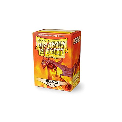 Dragon Shields: (100) Matte - Matte Orange