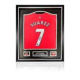 Generic Luis Suarez Dos signé Liverpool 2013-14Maillot Domicile en Deluxe Classic Cadre