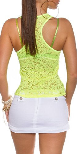 N.F. - Camiseta sin mangas - para mujer Neon Gelb