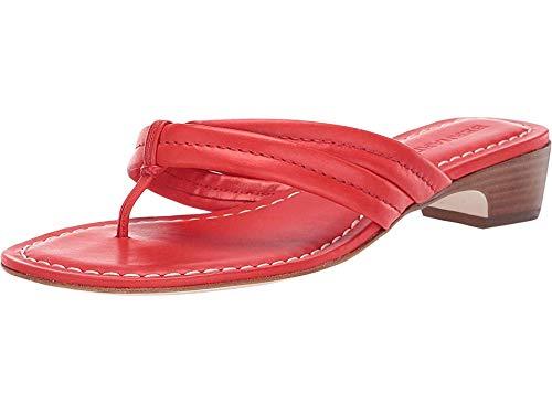 Bernardo Miami Demi Heel Sandals Tomato Antique Calf 8.5