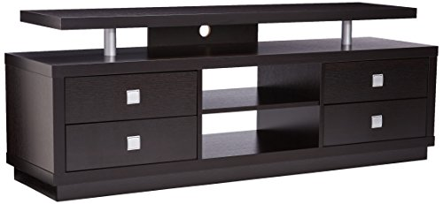 4-Drawer TV Console Cappuccino