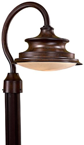 The Great Outdoors 8126-A188-PL Single Light Down Lighting Energy Star Dark Sky Outdoor Post Light from the Vani, Windsor - Great Place Vanira Outdoors