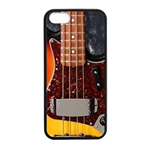 Personalized Instrument Guitar Fender Jazz Bass Durable Rubber TPU Laser Technology Back Case For iPhone 5,5s