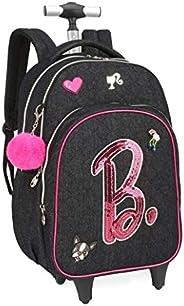 Mochila Juvenil Feminina Rodinhas Barbie Original Notebook G