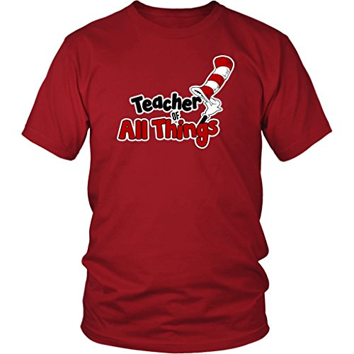World Of Tees Teacher Of All Things Tshirt - School T-Shirt 1st 2nd 3rd 4th 5th 6th Grade Teaching Tee Shirt ()