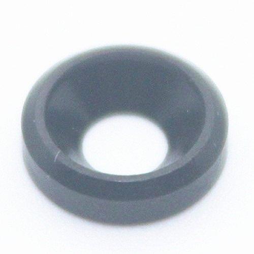 50PCS M3 Countersunk Washer Alloy Aluminum Screw Gasket (Black) by JLM (Image #1)