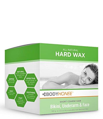 Hard Wax Kit: Face, Underarms & Bikini Hair Remover BodyHonee