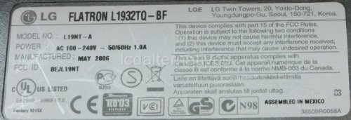 Repair Kit, LG Flatron L1932TQ-BF, LCD Monitor, Capacitors, Not the Entire Board by LCDalternatives (Image #2)