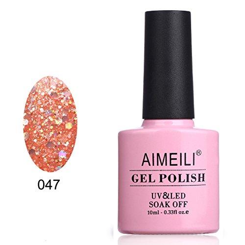 AIMEILI Soak Off UV LED Gel Nail Polish - Diamond Glitter Pi