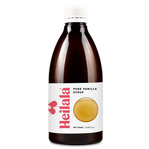Heilala Vanilla Syrup - Premium Vanilla Bean Syrup Flavoring for Coffee, Cocktails, Pancakes, Ice Cream, 16.90 fl oz