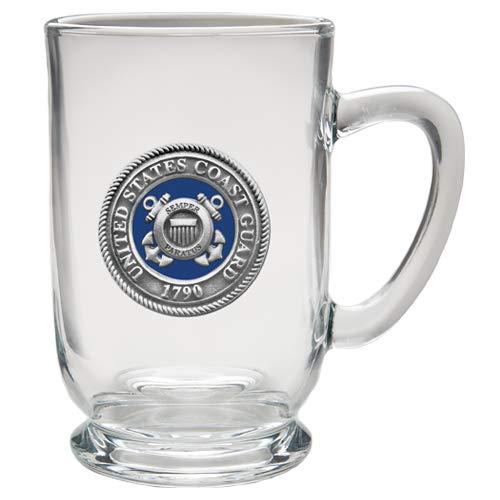 1pc, Pewter Coast Guard Coffee Mug, Clear