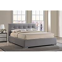 Baxton Studio Regatta Modern & Contemporary Fabric Upholstered Platform Bed, King, Grey
