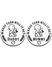 NUBARKO New Baby Gift for Parent Mom Daddy Cute Decision Coin for Women Men Pregnancy Mothers for First Time Moms Dads Mummy to Be Birthday Christmas Appreciation Present Double-Sided