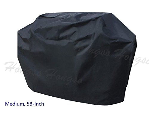 Hongso Barbecue Grill Cover for Weber (Genesis), Charmglow, Brinkmann, Jennair, Uniflame, Lowes, and Other Model Grills (Cart Bbq Grill)
