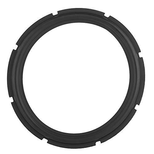 12inch Universal Rim Foam Repair Woofer Bass Loudspeaker Surrounds Circle Foam For Bass Speaker Perforated Rubber Speaker Foam Edge Subwoofer Surround Spare Parts for Speaker Repair or DIY (Black)