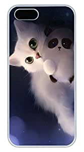 iPhone 5 5S Case Lovely White Cat Funny Lovely Best Cool Customize iPhone 5S Cover White