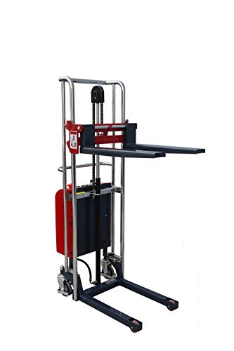Pake Handling Tools - Electric Fork Type Stacker, 880 lbs Capacity