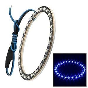 OXOX merdia 1w 100lm 27x3528smd de luz LED azul de coche y moto angel eyes (12v dc / 1piece, de 100 mm de di¨¢metro exterior)